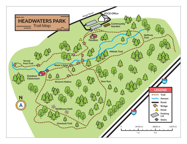 Headwaters Park Trail Map